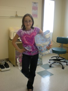 Cindy with her new Cheneau brace!
