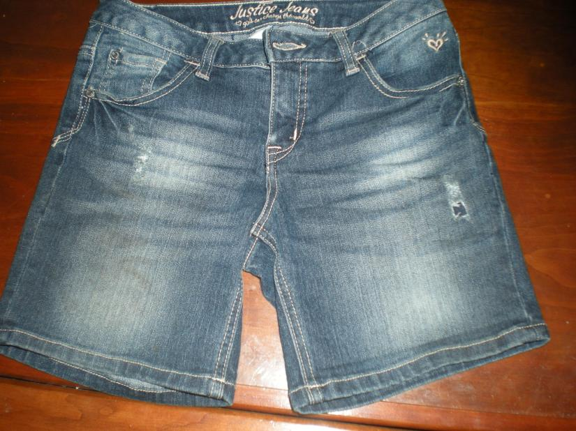 We finally found denim shorts that stretched enough!  Justice, $15 after discounts