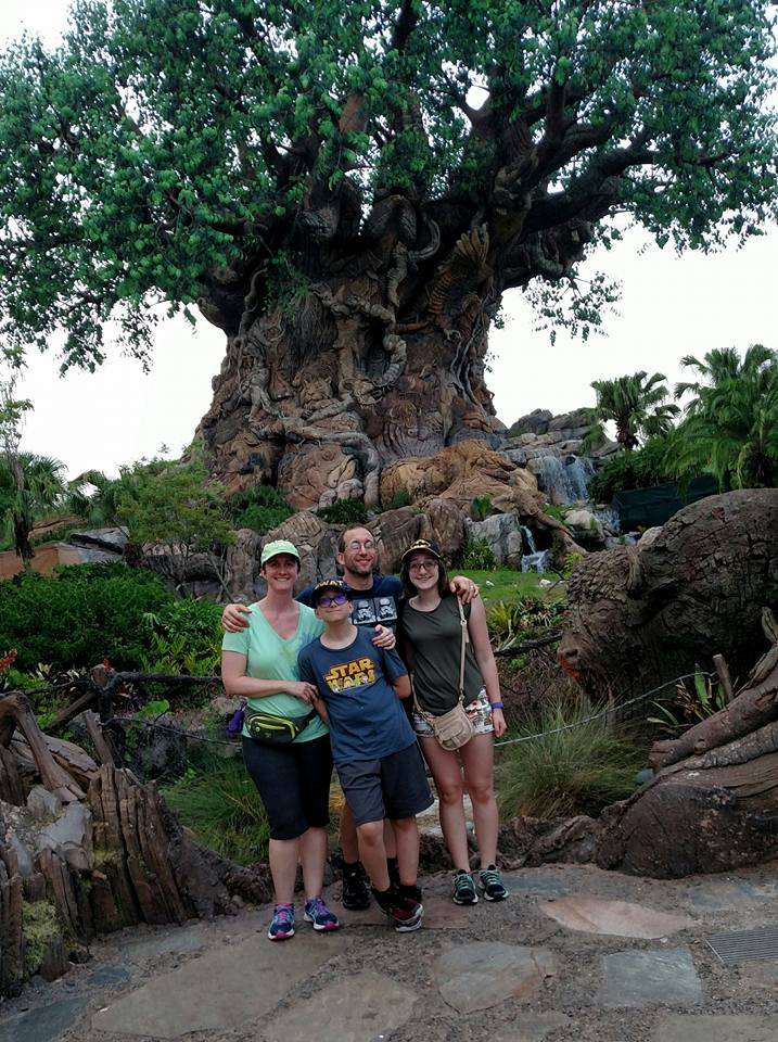 My family and I at Disney's Animal Kingdom