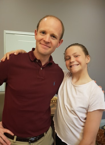Ellie-Ruth with Dr. Kris Lundine